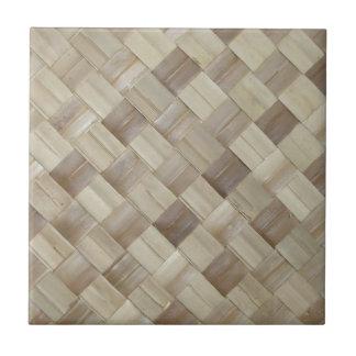 Woven Palm Matting Ceramic Tile