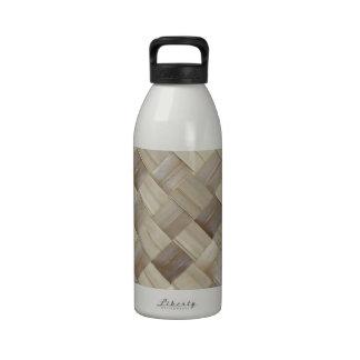 Woven Palm Matting Reusable Water Bottle