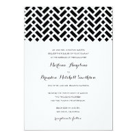 Woven Pattern Wedding Invitation