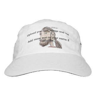 Woven Performance Hat your own text and image.