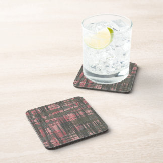 Woven Pink and Gray Coaster