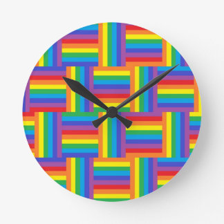Woven Rainbow Clock