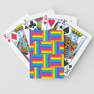 Woven Rainbow Playing Cards
