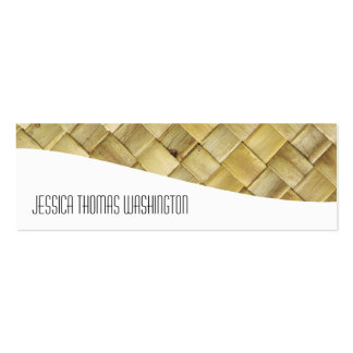 Woven Rattan Professional Slim Business Cards