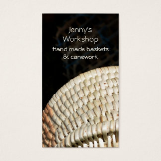 Woven reed basket business card