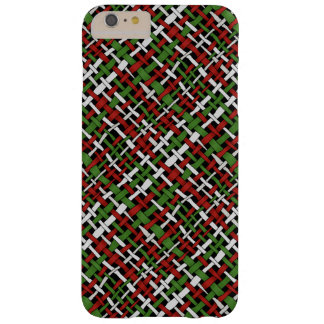 Woven Rough Seasonal Burlap Red Green White Barely There iPhone 6 Plus Case
