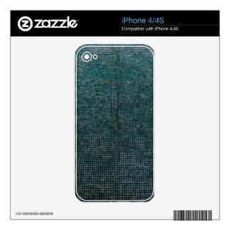 Woven Structure,aqua iPhone 4 Skins