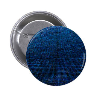 woven structure, blue 2 inch round button