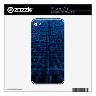 woven structure, blue skin for iPhone 4S