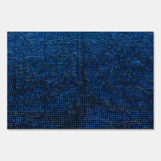 woven structure blue lawn signs