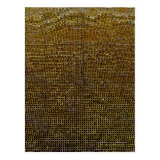 woven structure, golden postcard