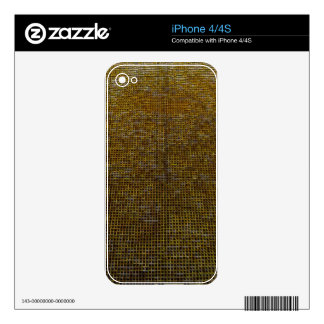 woven structure, golden decal for the iPhone 4S