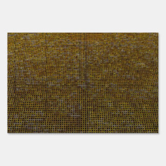 woven structure golden yard signs