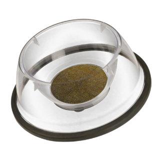 woven structure golden pet bowl