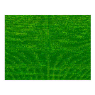 woven structure green postcard