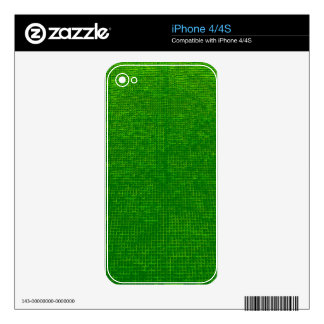 woven structure green decal for the iPhone 4
