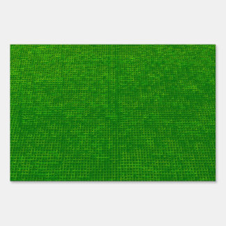 woven structure green signs