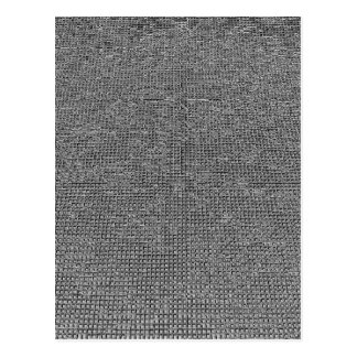 woven structure ,metal silver postcard