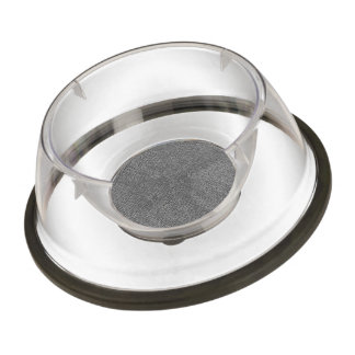 woven structure metal silver pet bowl