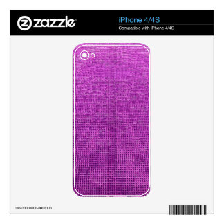 woven structure neon pink iPhone 4 decal