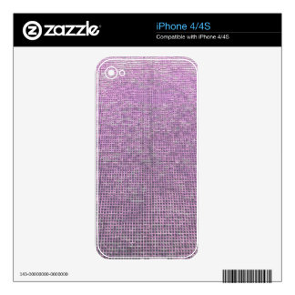 woven structure pink decals for iPhone 4S