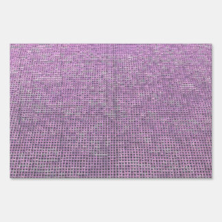 woven structure pink yard sign