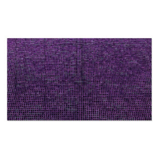 woven structure purple business card