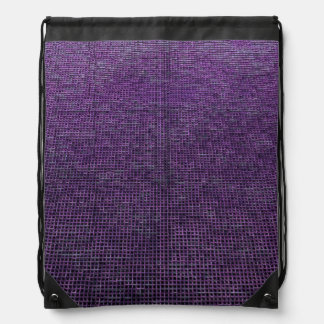 woven structure purple drawstring backpacks