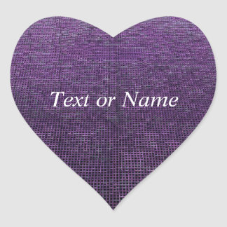 woven structure purple heart sticker