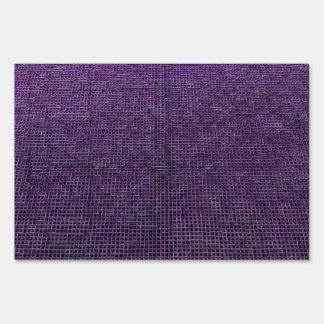 woven structure purple yard signs