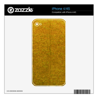 woven structure yellow skins for the iPhone 4S