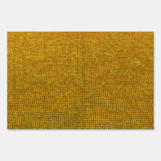 woven structure yellow sign