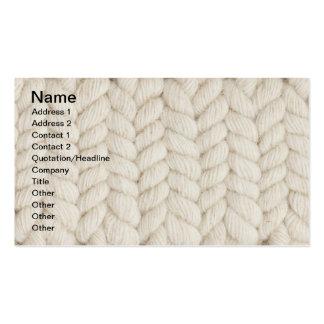 Woven texture business card