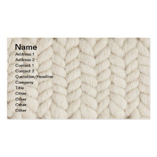 Woven texture business cards