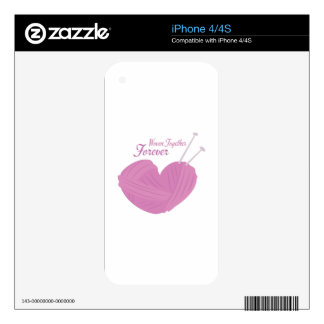 Woven Together Decals For iPhone 4S
