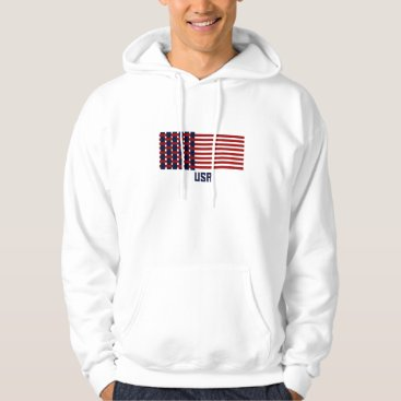 USA Themed Woven USA Flag Hoodie