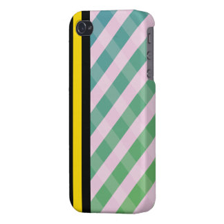 woven vintage and black yellow line iphone 4 case