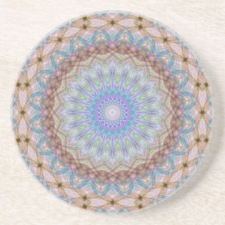 Woven Wheel  Sandstone Coaster