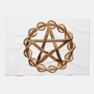 Woven Wicca Pentagram Kitchen Towels