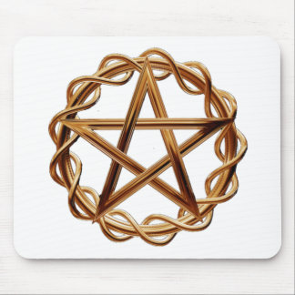 Woven Wicca Pentagram Mouse Pad
