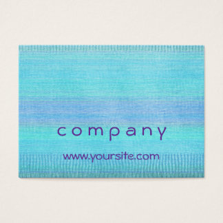 Woven Wonders Blue Business Card