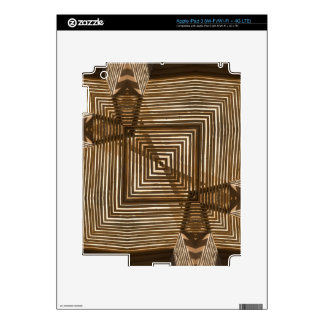 Woven Wood Geometric Decal For iPad 3