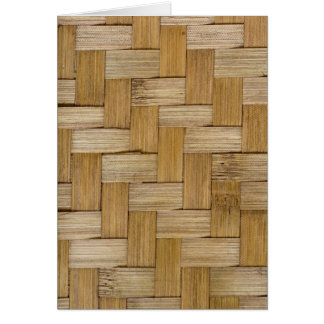 Woven wood texture card