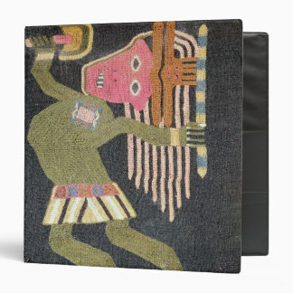 Woven wool dancer with baton, Paracas tribe 3 Ring Binder