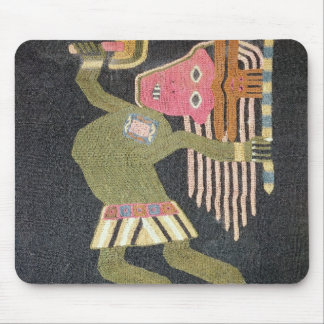 Woven wool dancer with baton, Paracas tribe Mouse Pad