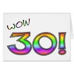 WOW 30TH BIRTHDAY GREETING CARD