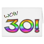 WOW 30TH BIRTHDAY GREETING CARDS