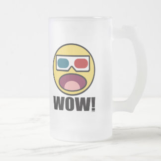 Wow! 3D Frosted Glass Beer Mug