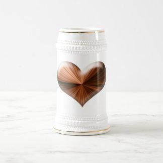 Wow 3D heart design Beer Stein