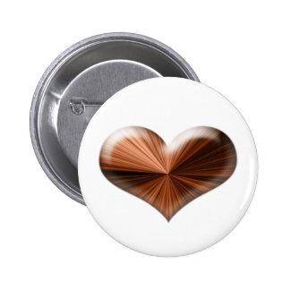 Wow 3D heart design Pinback Buttons